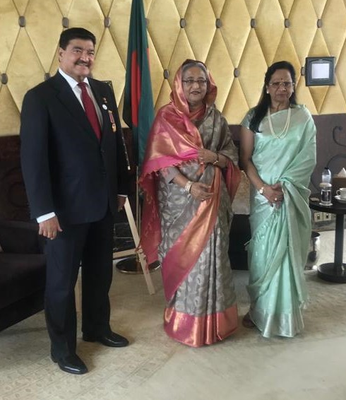 Meeting with Sheikh Hasina Wazed, the Prime Minister of Bangladesh