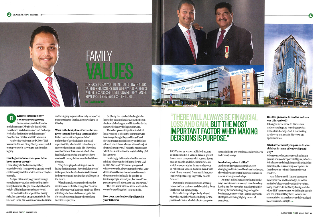 Interview of Binay Shetty in CEO Middle East magazine