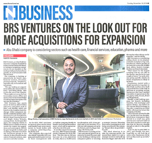 BRS Ventures eyes acquisitions to boost growth
